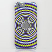Toothed Rings In Blue An… iPhone 6 Slim Case