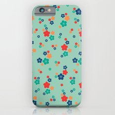 blossom ditsy in grayed jade iPhone 6s Slim Case