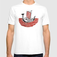 Lone Viking Mens Fitted Tee White SMALL
