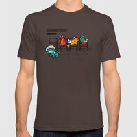 Emergency Room Mens Fitted Tee Brown SMALL