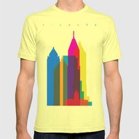 Shapes Of Atlanta. Accur… Mens Fitted Tee Lemon SMALL