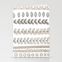 Pastel Patterns - Natural Stationery Cards