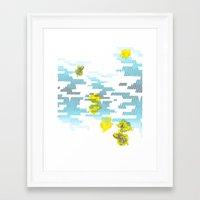 Graphic Roses Framed Art Print