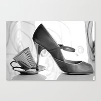 Glamorous Obsessions in high heels Canvas Print