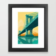 Manhattan Bridge NYC Framed Art Print