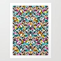 Aztec Geometric Reflecti… Art Print