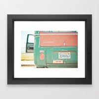 Beach Wagon Framed Art Print
