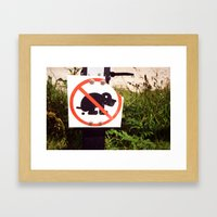 Poo Framed Art Print
