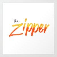 The Zipper Art Print