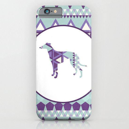 Greyhound Geometri iPhone & iPod Case
