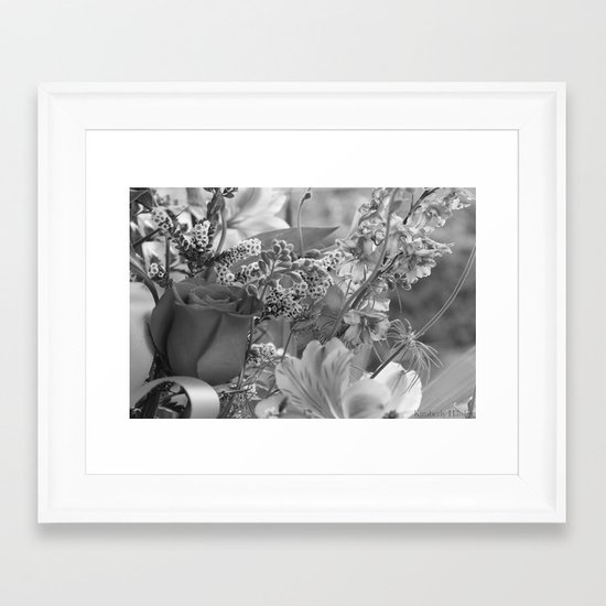 Bouquet B&W Framed Art Print