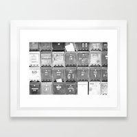 Mailboxes II Framed Art Print