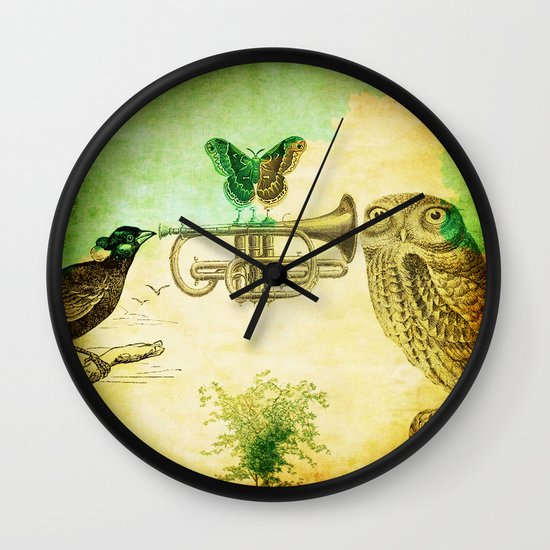 Music of birds Wall Clock
