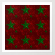 Christmas Red And Green … Art Print