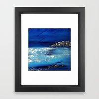 Winter scene in the alps Framed Art Print