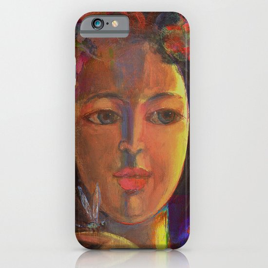 Girl with Dragonfly iPhone & iPod Case