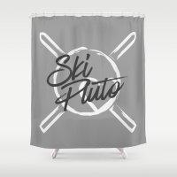 Ski Pluto Shower Curtain