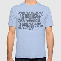 Jazz Poster Mens Fitted Tee Tri-Blue SMALL