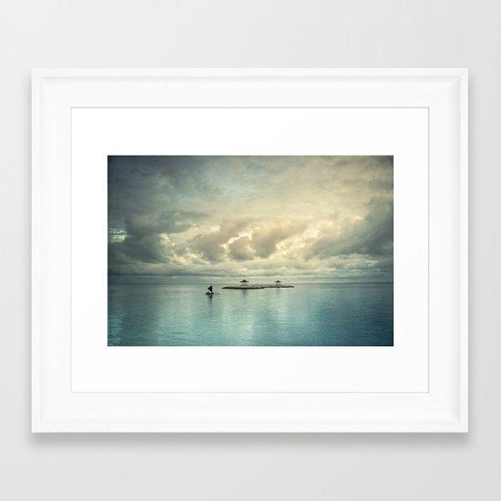 the art of silence Framed Art Print