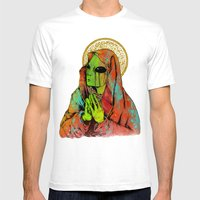 Mother Mary Mens Fitted Tee White SMALL