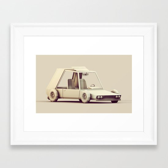 Racer Framed Art Print