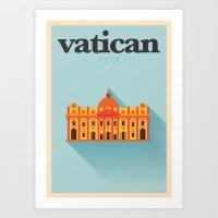 Minimal Vatican City Pos… Art Print