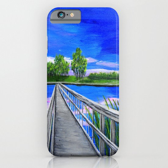 Walking bridge on the lake  iPhone & iPod Case