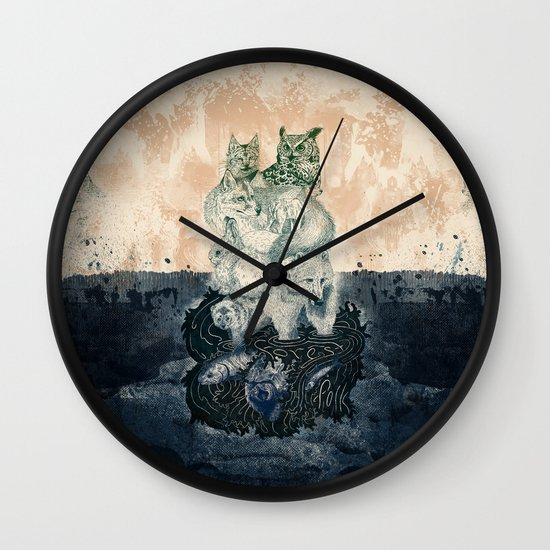 The Forest Folk Wall Clock