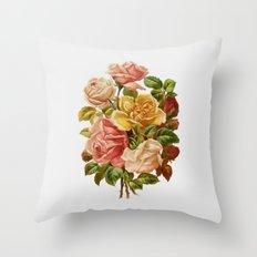 Rose Botanical Throw Pillow