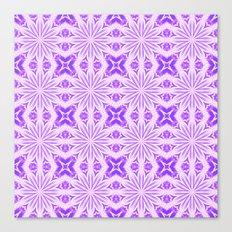 Lavender Purple Flower Cross Canvas Print