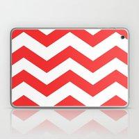 Red Chevron Lines Laptop & iPad Skin