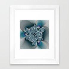 Molten Metal fractal  Framed Art Print