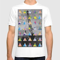 Postcard Mens Fitted Tee White SMALL