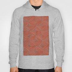 Red diagonals pattern Hoody