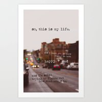 Perks Of Being A Wallflo… Art Print