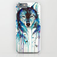 iPhone Cases featuring -Dark Wolf- by PeeGeeArts