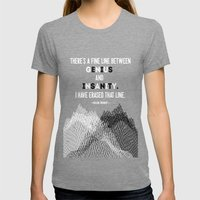 Oscar Levant Quote Womens Fitted Tee Tri-Grey SMALL