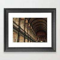 Long Room - Trinity Coll… Framed Art Print