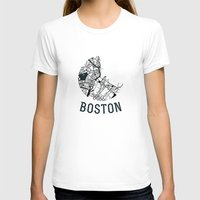 boston T-shirts featuring Boston by Sophie Calhoun