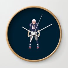 Pats - Tom Brady Wall Clock