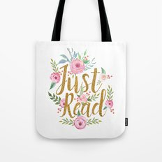 Just Read - White Tote Bag