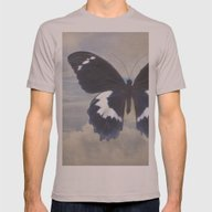 Butterfly Sky Mens Fitted Tee Cinder SMALL