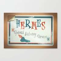 Hermes Special Delivery Service Canvas Print