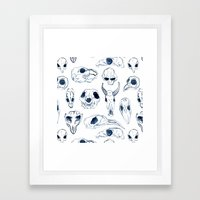 Skull Sketch Framed Art Print