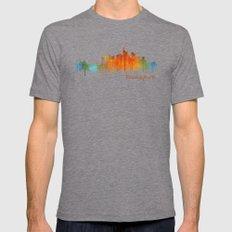 Frankfurt am Main, City Cityscape Skyline watercolor art v2 Mens Fitted Tee Tri-Grey SMALL