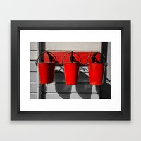 Fire Buckets Framed Art Print
