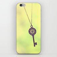 dainty key iPhone & iPod Skin