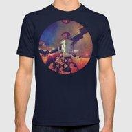 Brystyl Lyyt Mens Fitted Tee Navy SMALL