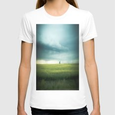 Alberta Prairies Womens Fitted Tee White SMALL