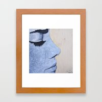 Eyelashes Framed Art Print
